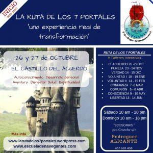 """Curso de Psicología Transpersonal """"Los Siete Portales"""". Primer intensivo: """"El Castillo del Acuerdo"""" en la Comunidad Valenciana @ ECOSOMNIS"""