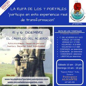 """Curso de Psicología Transpersonal """"Los Siete Portales"""". Primer intensivo: """"El Castillo del Acuerdo"""" en la Comunidad Valenciana @ Wakan Tanka"""