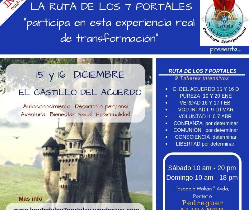 Curso de Psicología Transpersonal «Los Siete Portales». Primer intensivo: «El Castillo del Acuerdo» en la Comunidad Valenciana